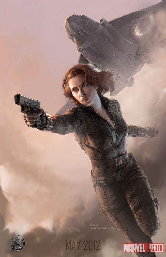scarlett johansson the avengers  | Concept Art de Scarlett Johansson en The Avengers | Psicocine | Cine ...