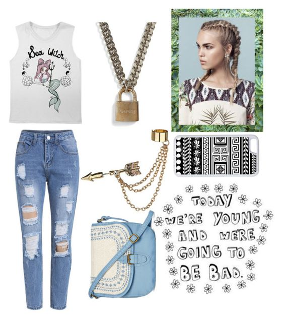 """Today we are young and we're going to be bad"" by fabulousbella11 ❤ liked on Polyvore featuring Valfré, The Giving Keys, CellPowerCases, Emi Jewellery, T-shirt & Jeans, women's clothing, women, female, woman and misses"