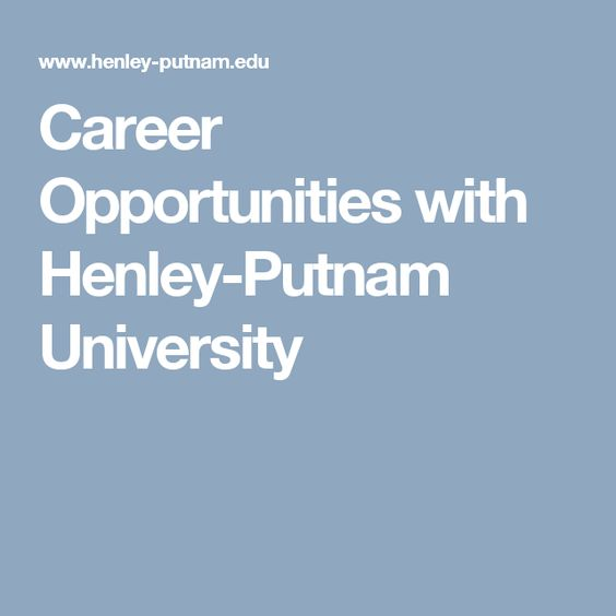 Career Opportunities with Henley-Putnam University