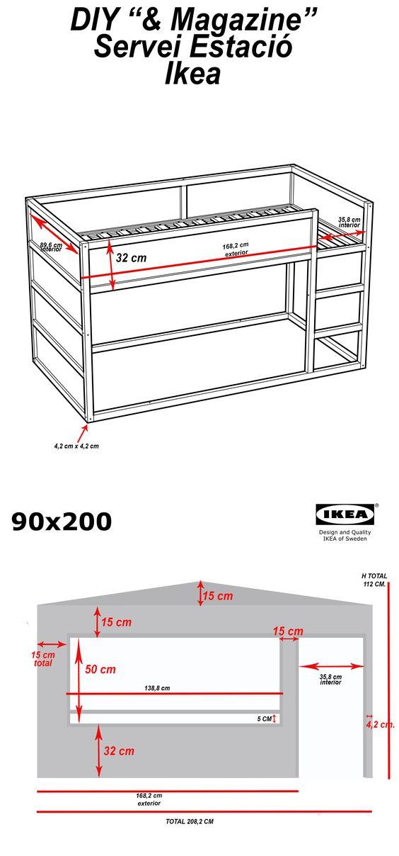 diy wood house with kura beds ikea hackers lit pour auguste ou faustine pinterest. Black Bedroom Furniture Sets. Home Design Ideas