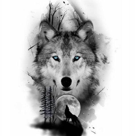 Fantasy Wolf Fans Follow Savegraywolf For Wolves Dark Anime Rpg Halloween Spirit Big Winter Monsters Be Wolf Tattoos Men Wolf Tattoo Sleeve Wolf Tattoos