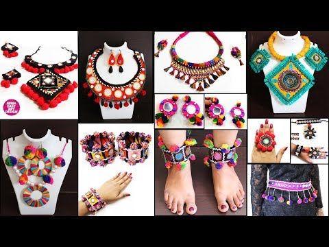 12 Handmade Navratri Jewelry Making !! Necklace, Baloya, Finger ring |DIY  Traditional Ornaments idea - YouTube | Navratri jewellery, Diy rings,  Handmade