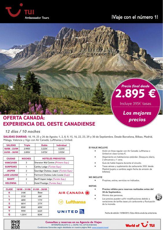 Oferta CANADÁ: Experiencia del Oeste Canadiense. Precio final desde 2.895€ - http://zocotours.com/oferta-canada-experiencia-del-oeste-canadiense-precio-final-desde-2-895e/