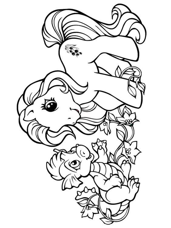 My Little Pony Dragon Coloring Pages : Petit poney et son dragon mes petites pouliches