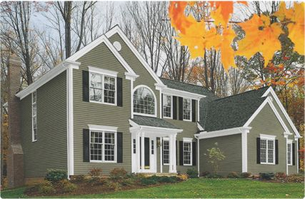 Pictures Of Tan Houses With Black Shutters Contrast Slate Siding Glacier White Trim