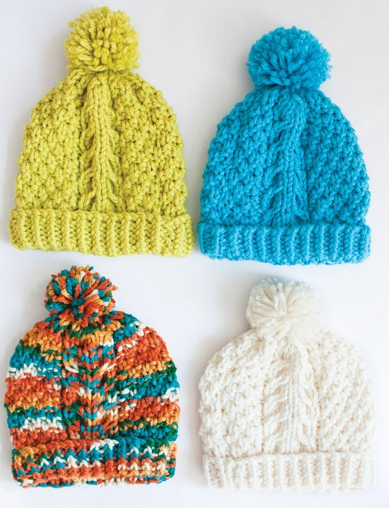Dolls Free Knitting Patterns : Yarnspirations.com - Bernat Chill Chaser - Hat - Patterns knit free patte...