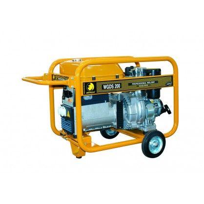 Motosoldadora generador Benza WGDS 200 AC La Motosoldadora-generador Benza WGDS 200 AC está fabricado con motor Subaru DY 42 9,5 HP - Cilindrada = 412 cc  - Arranque = Eléctrico - Depósito combustible 16 Ltrs. Peso 135 kg.