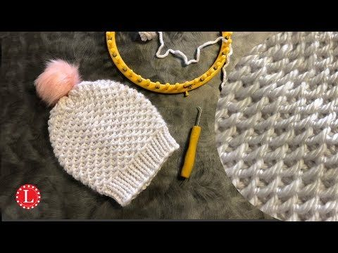 Loom Knitting Hat The Chinese Waves Stitch On A Round Circular Loom Youtube Loom Knitting Patterns Loom Knitting Projects Loom Knitting Stitches