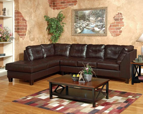 Best Venus Chocolate Sectional Sofa Living Rooms American 640 x 480