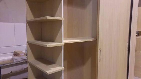 armadio con librerietta terminale e ante a scorrere