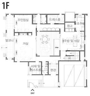 By 전원주택라이프 성남 파티오 하우스 의 디자인 포인트는 중정 Patio 이다 건축주가 최우선시한 주택평면도 아파트 평면도 평면도