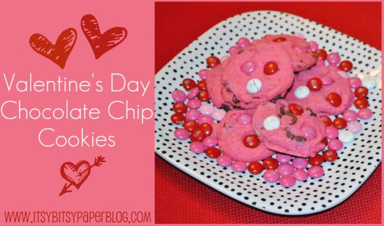 Valentine's Day Chocolate Chip Cookies . . . | Desserts ...