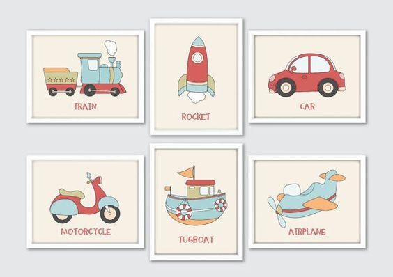 Transport pépinière estampes décor de salle de par RomeCreations
