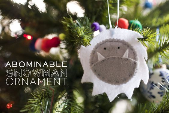 342 abonimable snowman ornament Ornaments, God and So cute