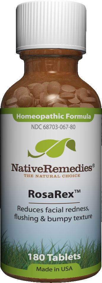 RosaRex™ - Homeopathic remedy to temporarily reduce facial redness, flushing and bumpy texture