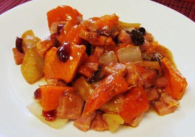 Debbi Does Dinner... Healthy & Low Calorie: Ham, Sweet Potato & Apple Casserole