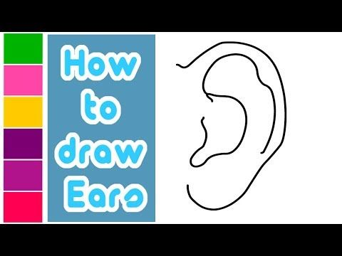 How To Draw Ears How To Draw Ears Drawing For Kids Drawing Tutorial