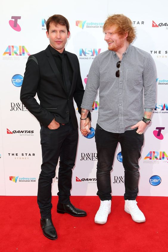 Pin for Later: Ed Sheeran and James Blunt Took Their Bromance to New Levels at the ARIA Awards