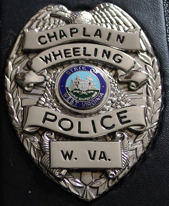 Us State Of West Virginia City Of Wheeling Police Department Chaplin Badge Police Chaplain Chaplain Fire Badge