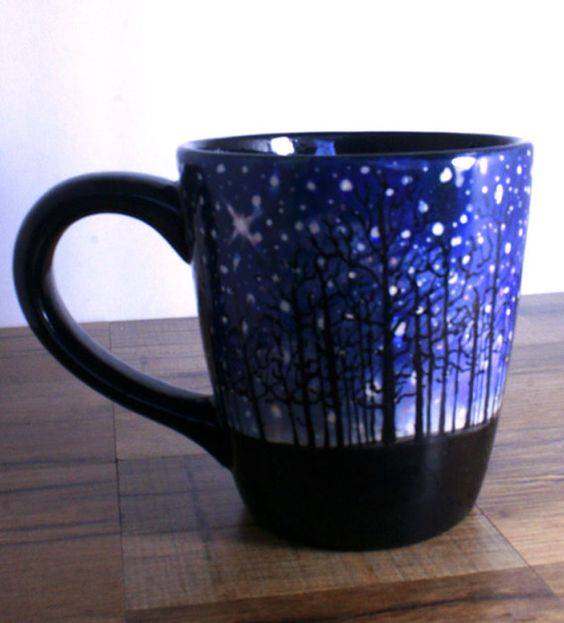 A Winter's Night Mug by LunaBeeStudio on Etsy