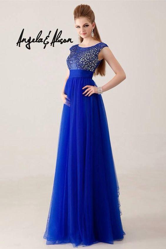 Vestidos Ele, Vestidos Toda, Vestidos De Dama De Honor, Vestidos Lindos, Vestidos Fiesta, Boda Azul, Vestido Azul, Vestido Largo, Azul Rey