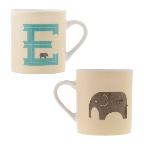E is for Elephant Mug <3 match made in heaven.. love elephants.. and the E.