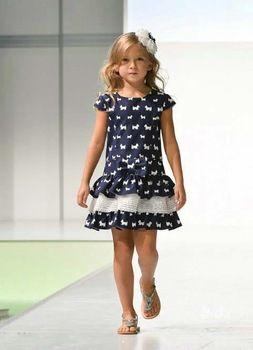 Summer Fashion 2014 brand children dress girls dot dress Designer ...
