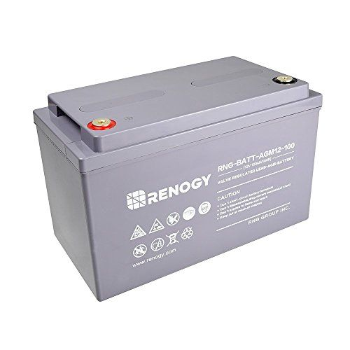 Renogy Deep Cycle Agm Battery 12 Volt 100ah For Rv Solar Https Www Amazon Com Dp B075rfxhyk Ref Cm Sw R Pi Dp U X Drx Battery Battery Shop Energy Storage