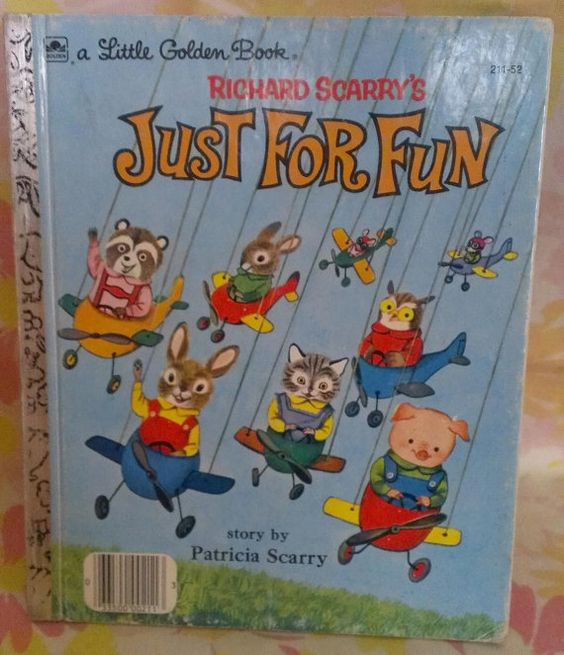 Richard Scarry's Just For Fun  Vintage by LuckyCatCollectables