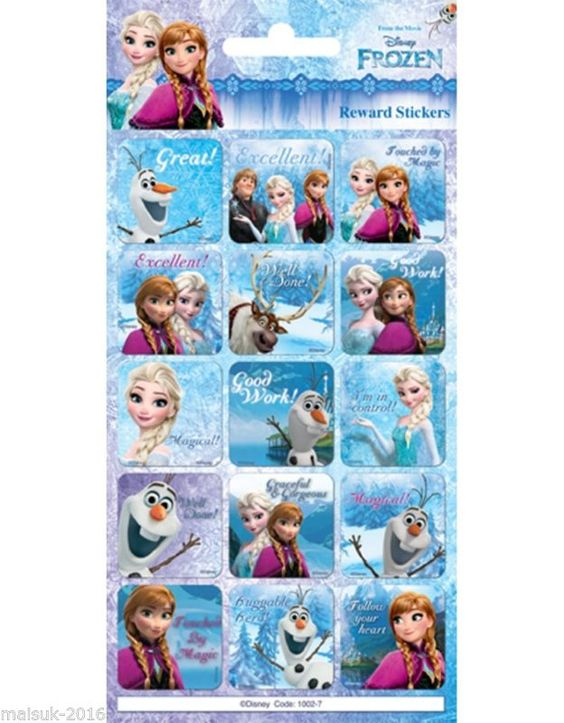 Paper Projects Disney Frozen Well Done Fun Foiled 15 x Rewards Stickers in…