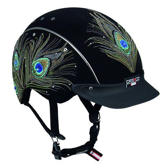 Strut Your Stuff Casco Peacock Helmet Equestrian Style