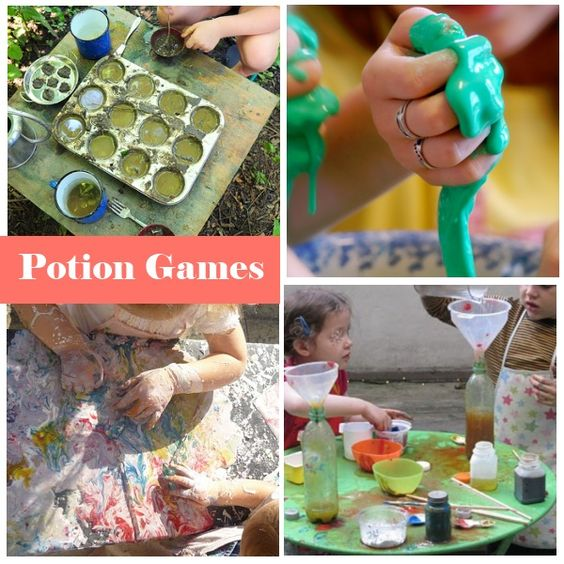 "Now that the weather is nice outside, I want to do some of these ""potion"" activities - outdoors!!"