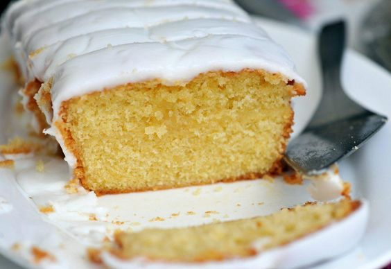Vegan Lemon Drizzle Cake  Variations: Spelt / plain wholemeal flour + baking powder (self-raising flour)