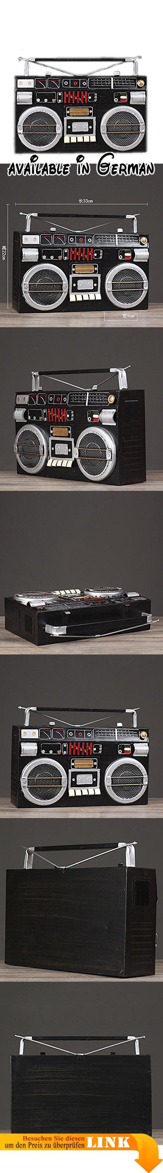 Vintage Radio Dekoration Bar Home Cafe Wohnzimmer Kunsthandwerk  Eisen Recorder Modell. Größe: 33CM