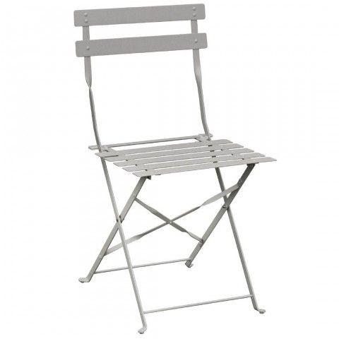 Chaise De Terrasse En Acier Gris Bolero Gh551 Chaise Terrasse Chaise De Jardin Chaise Salle A Manger