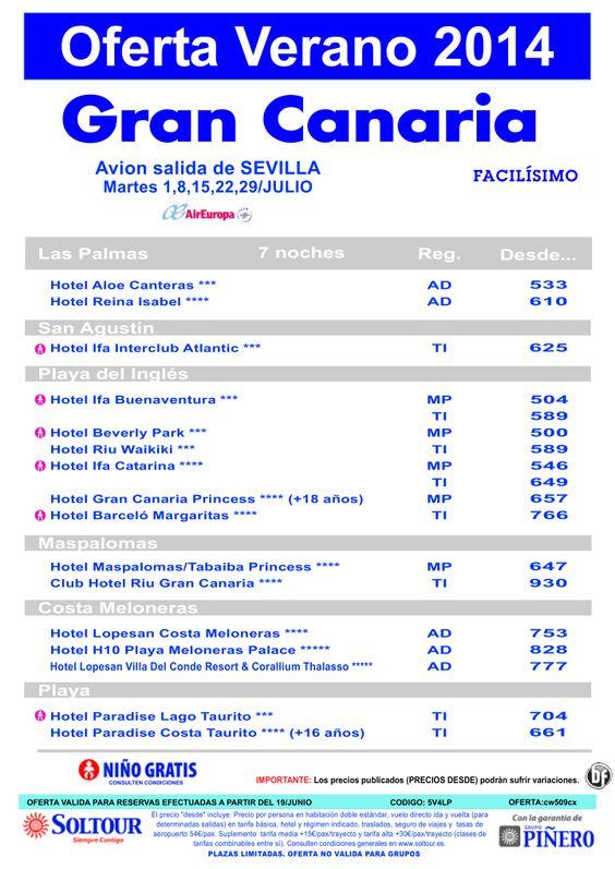 Oferta hoteles en Gran Canaria, salidas 1, 8, 15, 22 y 29 Julio desde Sevilla ultimo minuto - http://zocotours.com/oferta-hoteles-en-gran-canaria-salidas-1-8-15-22-y-29-julio-desde-sevilla-ultimo-minuto/