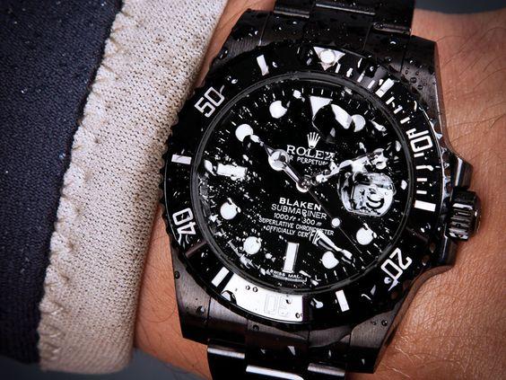 Schwarze Rolex Submariner Date | Blaken