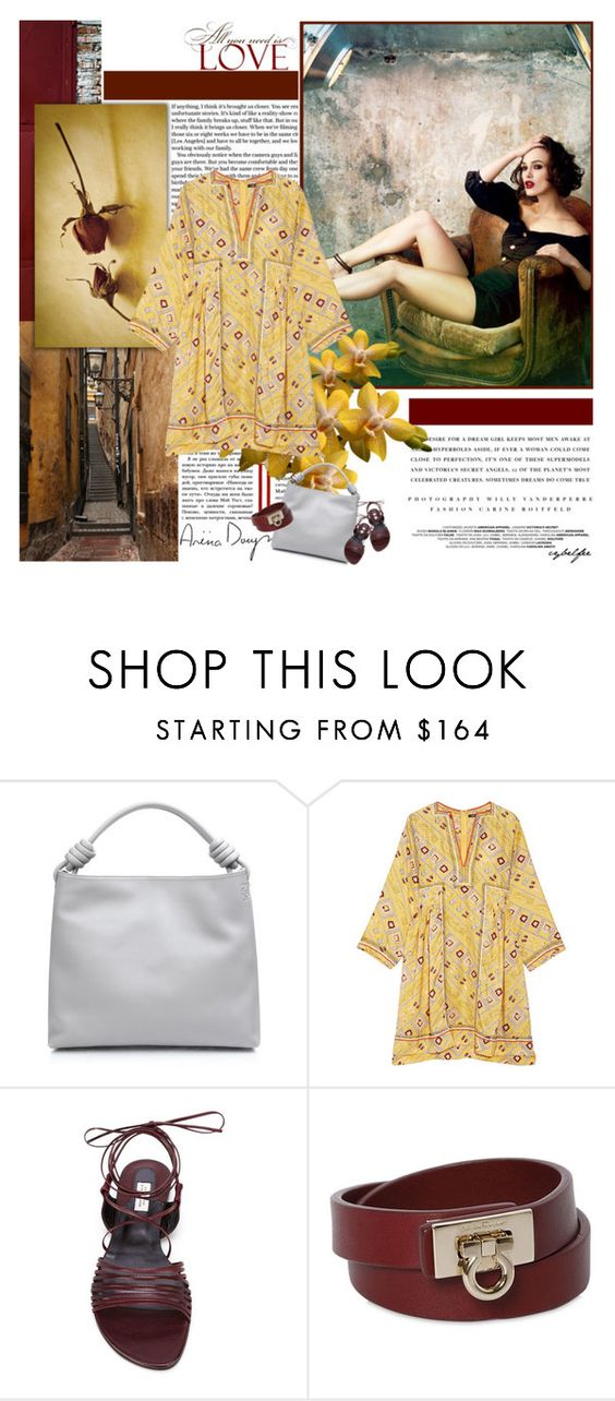 """""""All you need is love"""" by cybelfee ❤ liked on Polyvore featuring Kerr®, Loewe, Isabel Marant, Dorothee Schumacher, Salvatore Ferragamo and polyvoreeditorial"""