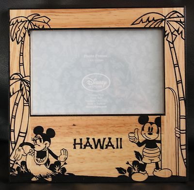 Disney Store Mickey Minnie Mouse Hawaii Beach Picture Frame Aloha