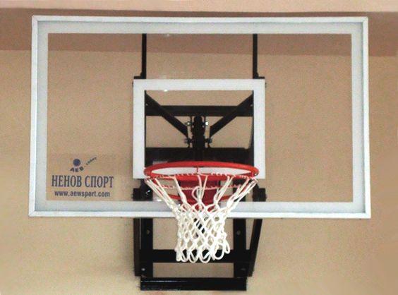 Wall-mounted basketball system