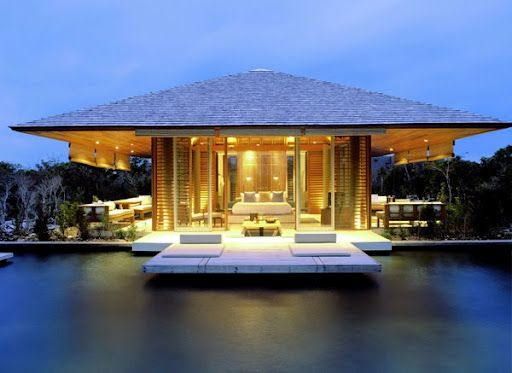 Schickes Strandhaus: Strand Bungalow mit Pool