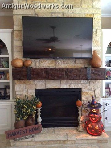 Mantels Fireplace Mantels And Railroad Ties On Pinterest