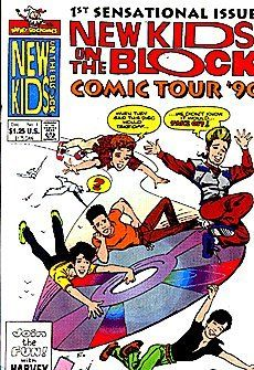 New Kids On The Block Comics Tour '90/91 (1990 series) #1 by Harvey Comics
