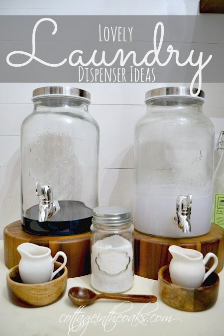 Laundry Room Decor ::: Creative Dispenser Ideas: