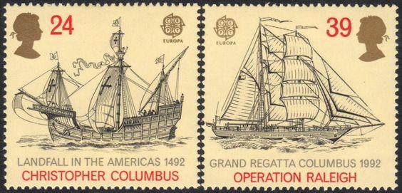 Great Britain Scott 1449-1450 MNH complete set - Columbus - bidStart (item 42275742 in Stamps... Commemorative)