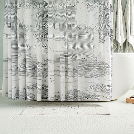 Organic Cloud Shower Curtain In 2020 Modern Shower Curtains