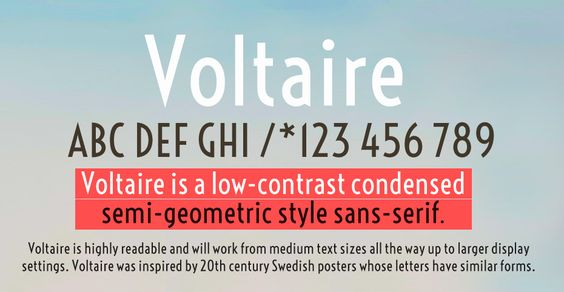 Voltaire 100 Greatest Free Fonts Collection for 2013 - Awwwards - typefaces, webfonts, free fonts
