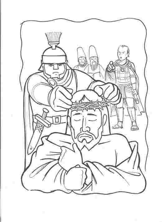 Coloring Festival Arrest And Trial Of Jesus Coloring Pages More
