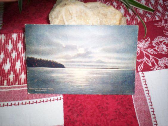 Vintage Puget Sound Washington Postcard by TheBohemianCottage, $1.50
