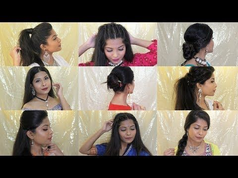 Hairstyles For Navratri Navratri 2018 Hairstyles For Medium Hair Damngalm Nutan Hairstyles Medium Hair Styles Hair Styles Easy Party Hairstyles